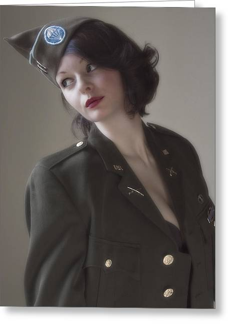 Gi Photographs Greeting Cards - American Pin Up 2 Greeting Card by Mark H Roberts