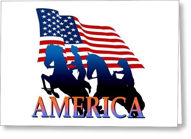 American Pioneer Design Greeting Card