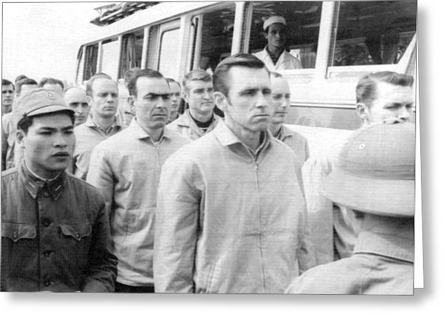 American Pows In Hanoi Greeting Card