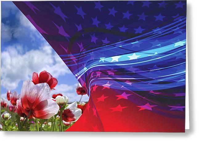 American Pride Greeting Card by Mac Titmus
