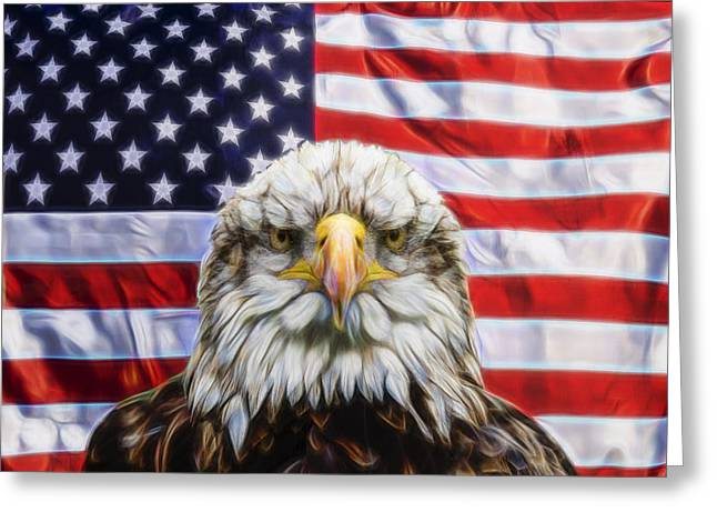 Greeting Card featuring the photograph American Pride by Scott Carruthers