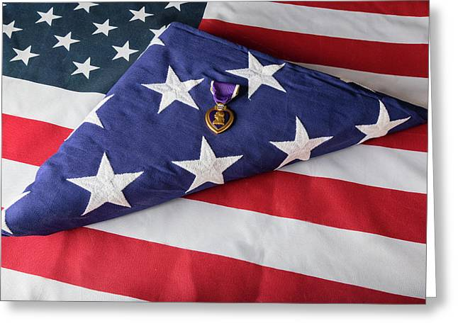 American Purple Heart Hero Greeting Card by James BO Insogna