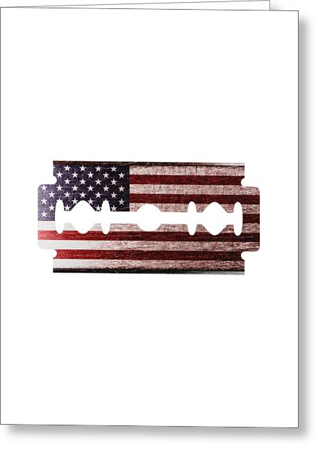American Razor Greeting Card by Nicholas Ely