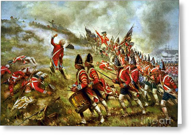American Revolution, Battle Of Bunker Greeting Card by Science Source