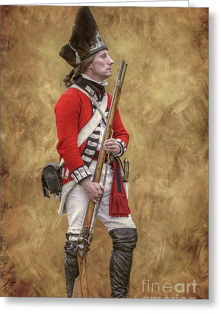 American Revolution British Soldier II Greeting Card by Randy Steele