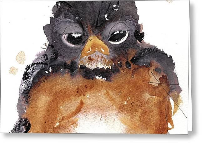 American Robin Greeting Card by Dawn Derman