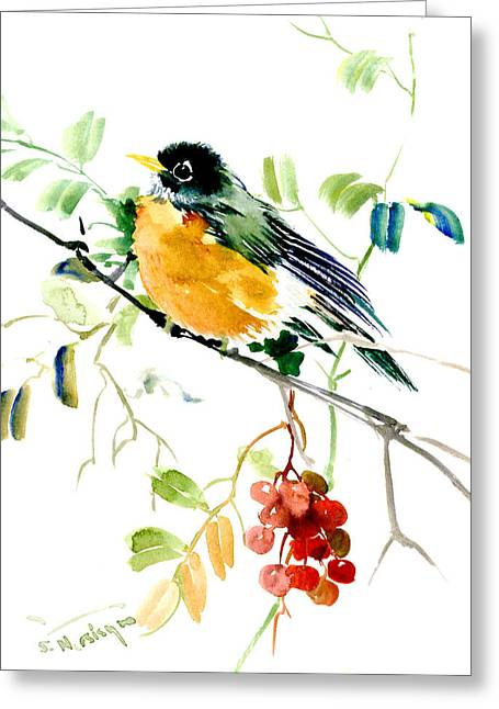American Robin Greeting Card