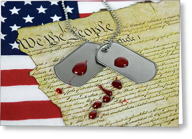 American Sacrifice Greeting Card by Maria Dryfhout