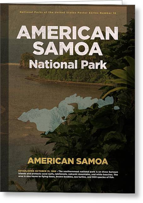 American Samoa National Park Travel Poster Series Of National Parks Number 16 Greeting Card