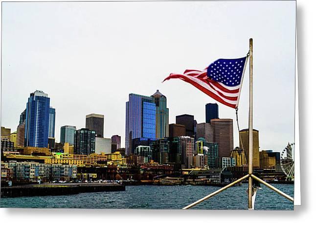 American Seattle Ic Greeting Card