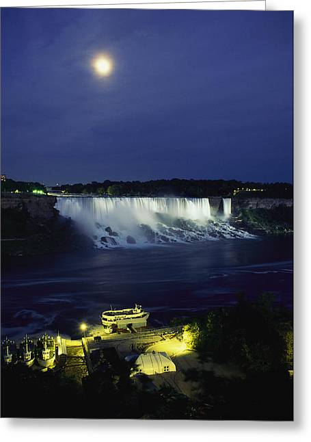 Middle Atlantic States Greeting Cards - American Side Of Niagara Falls, Seen Greeting Card by Richard Nowitz