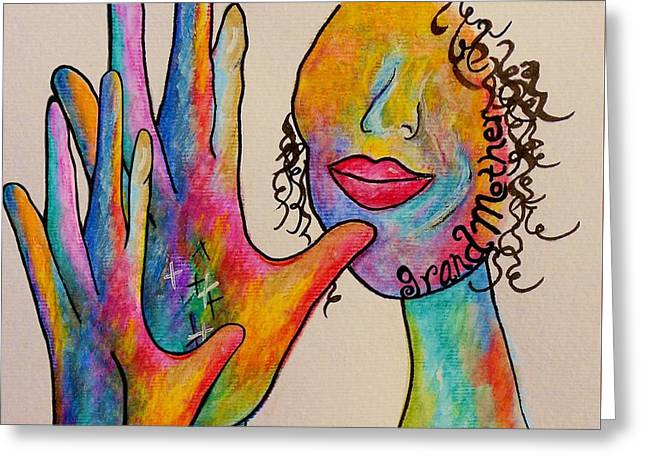 American Sign Language Grandmother Greeting Card by Eloise Schneider
