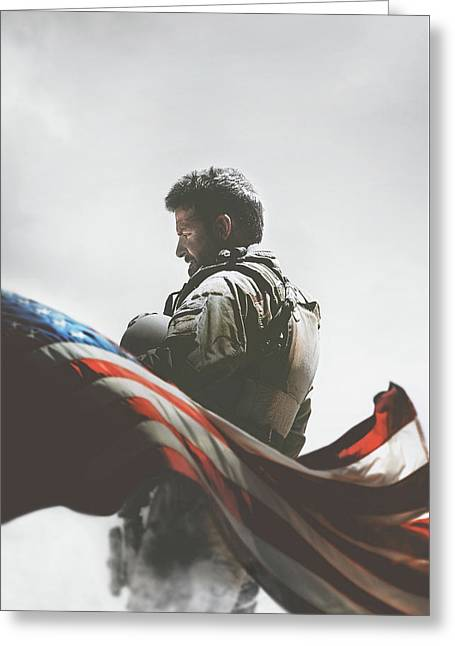 American Sniper 2014 Greeting Card by Caio Caldas
