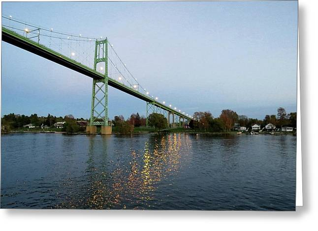 American Span Thousand Islands Bridge Greeting Card