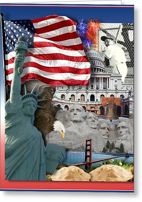 American Symbolicism Greeting Card by Gravityx9  Designs