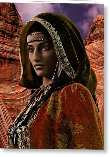 American Vision Saint Kateri Tekakwitha Greeting Card