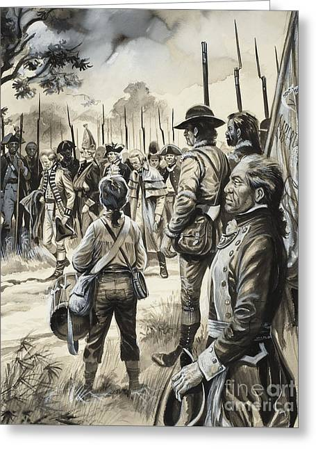 American War Of Independence Greeting Card