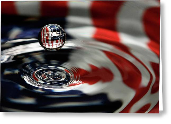 Greeting Card featuring the photograph American Water Drop by Betty Denise