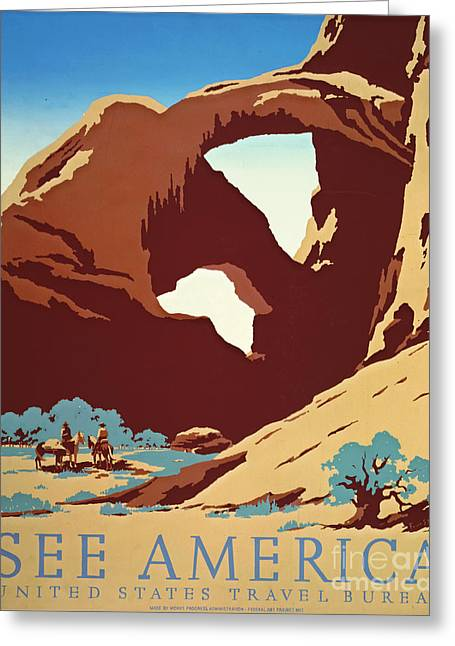 American West Travel 1939 Greeting Card