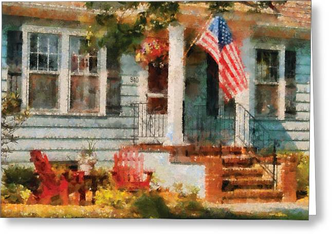 Americana - America The Beautiful Greeting Card by Mike Savad
