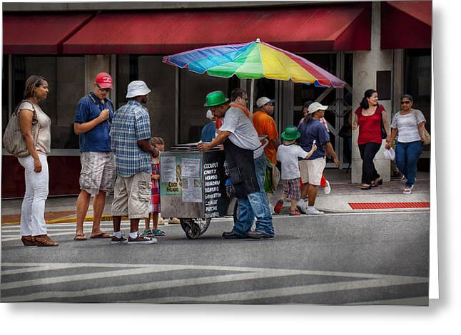 Americana - Mountainside Nj - Buying Ices  Greeting Card