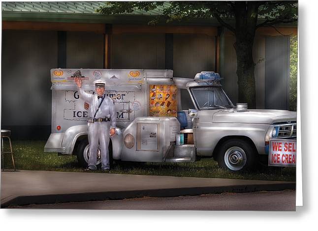 Americana -  We Sell Ice Cream Greeting Card by Mike Savad