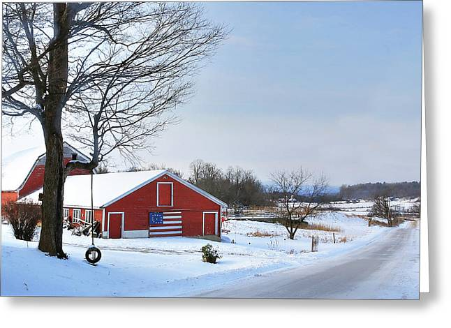 Americana Barn In Vermont Greeting Card