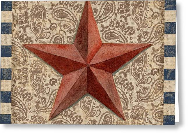 Americana Barn Star I Greeting Card