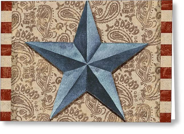 Americana Barn Star II Greeting Card