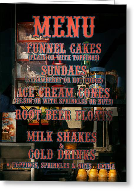 Americana - Food - Menu  Greeting Card