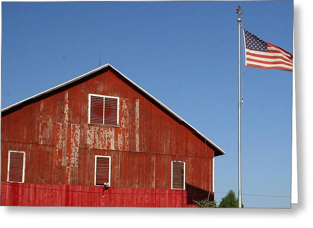 Americana Greeting Card by Robert Babler