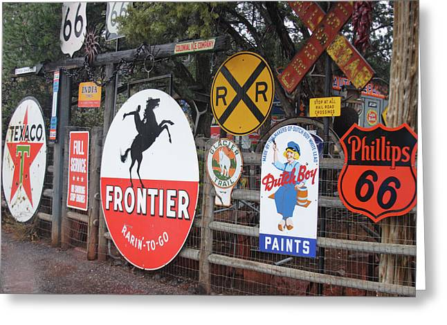 Greeting Card featuring the photograph Americana Rt.66 by Elvira Butler