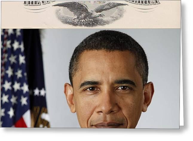 America's 44th President Greeting Card