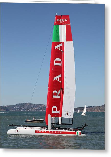 America's Cup In San Francisco - Italy Luna Rossa Paranha Sailboat - 5d18216 Greeting Card