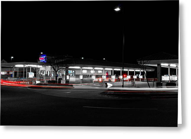 America's Drive In Greeting Card by Marnie Patchett