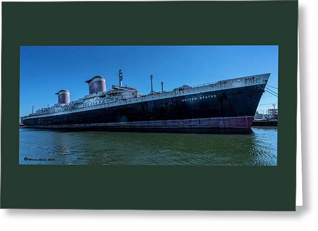 America's Flag Ship Greeting Card by Marvin Spates
