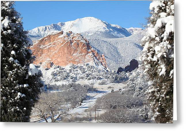 America's Mountain Greeting Card by Eric Glaser
