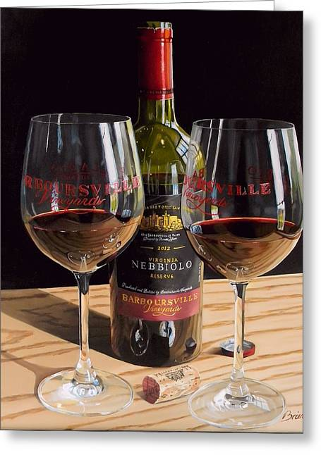 America's Nebbiolo Greeting Card by Brien Cole