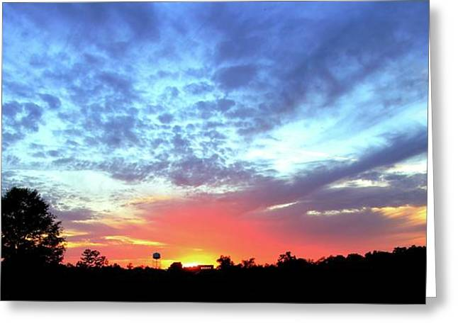 City On A Hill - Americus, Ga Sunset Greeting Card