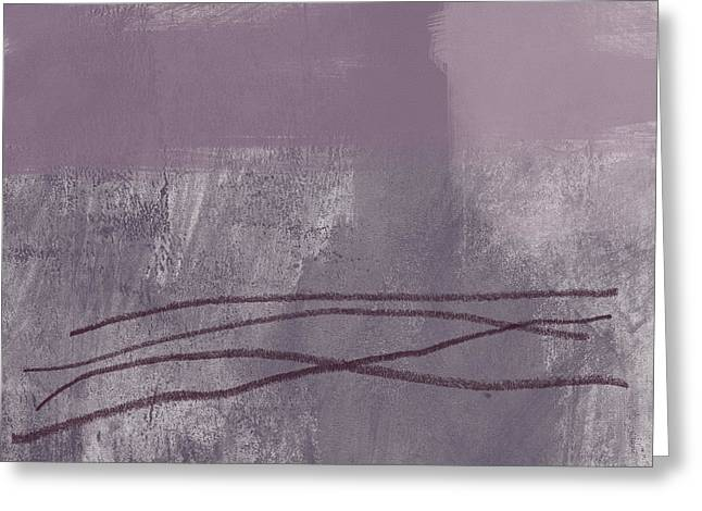 Amethyst 1- Abstract Art By Linda Woods Greeting Card