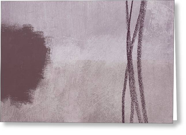 Amethyst 2- Abstract Art By Linda Woods Greeting Card