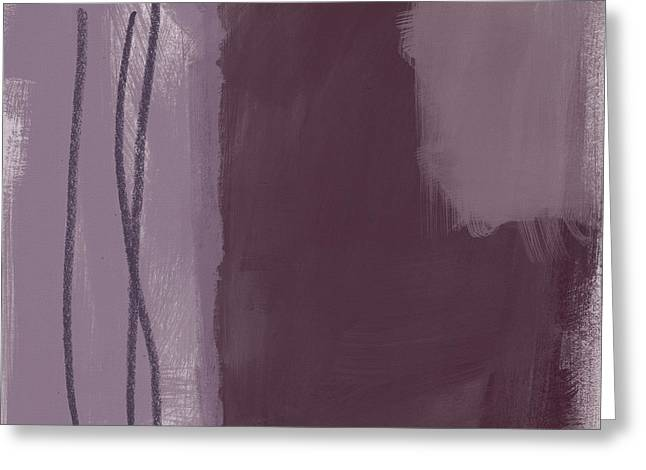 Amethyst 3- Abstract Art By Linda Woods Greeting Card
