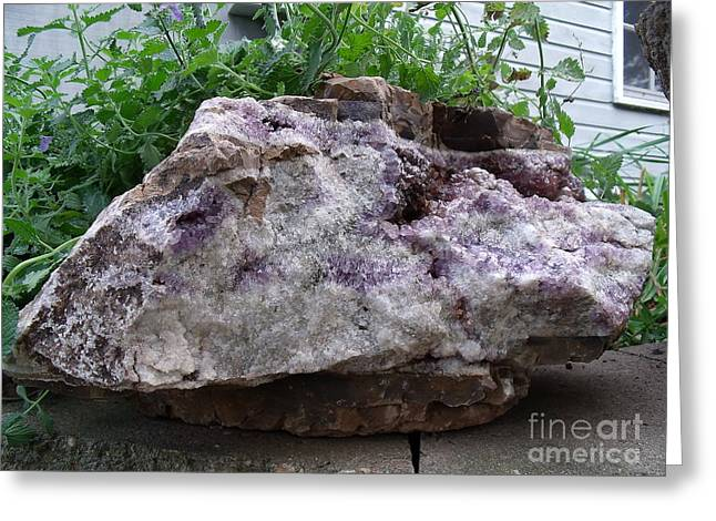 Amethyst Blooms Greeting Card by The Stone Age