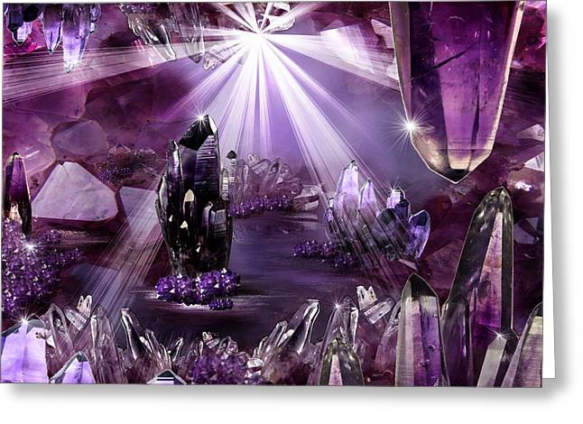 Amethyst Dreams Greeting Card