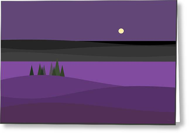 Amethyst Night Greeting Card by Val Arie