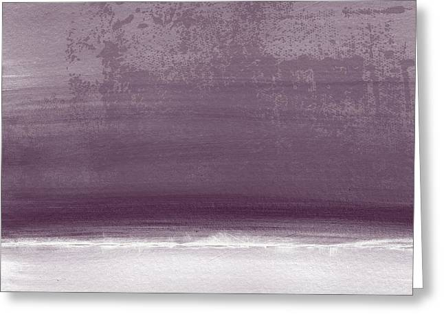 Amethyst Shoreline- Abstract Art By Linda Woods Greeting Card by Linda Woods