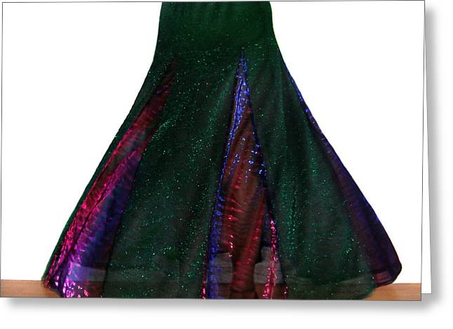 Ameynra Design. Sparkling Skirt 088 Greeting Card by Sofia Metal Queen