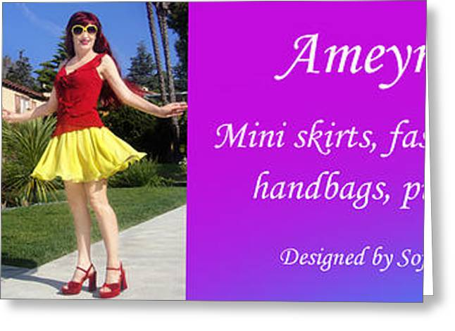 Ameynra Shop 23. Promo Banner 043 Greeting Card