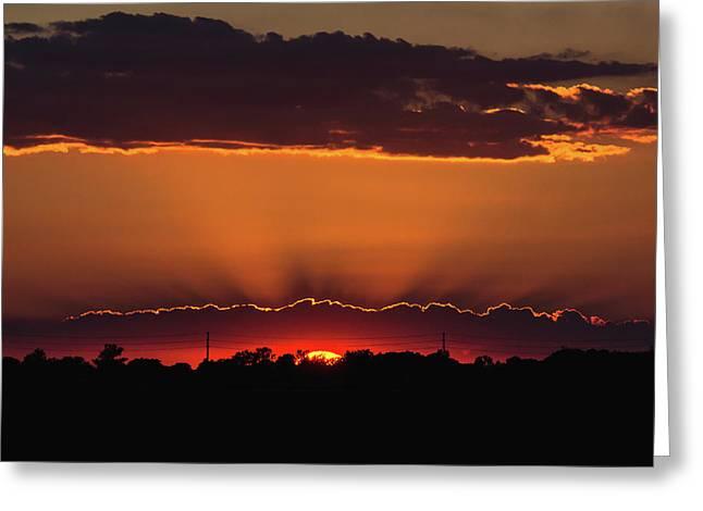 Amherstburg Sunset Greeting Card