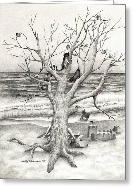 Amidst My Storm Greeting Card by Emily Wickerham